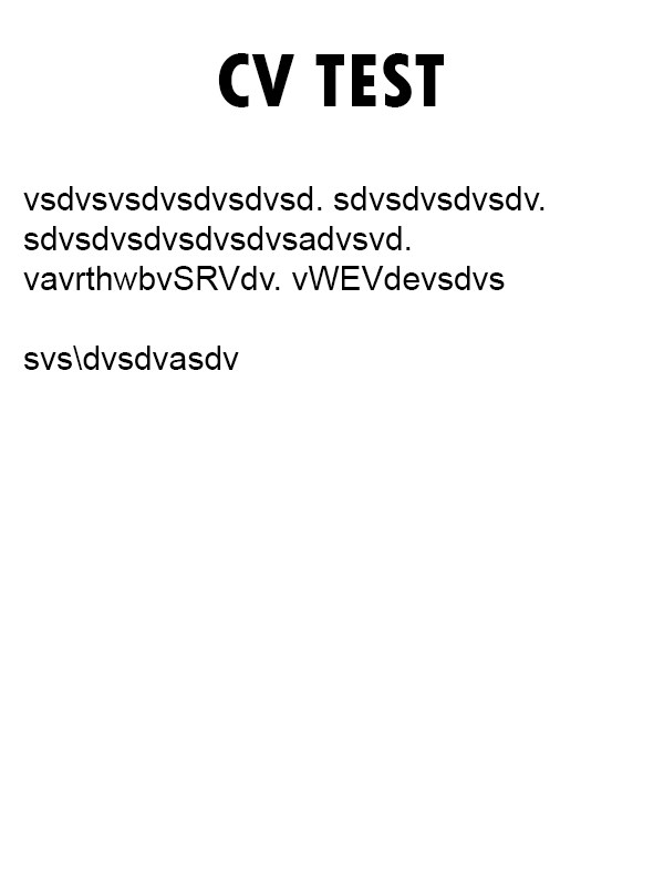TestCV